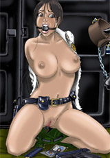 Captured pretty babes can't stnad irresisitble pain of their tight pussies and soft nipples torturing.